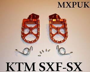 KTM150SX 2018 FOOTPEGS MXPUK WIDE FOOT PEGS KTM ORANGE 2017 KTM 150SX 563 - Thame, United Kingdom - KTM150SX 2018 FOOTPEGS MXPUK WIDE FOOT PEGS KTM ORANGE 2017 KTM 150SX 563 - Thame, United Kingdom