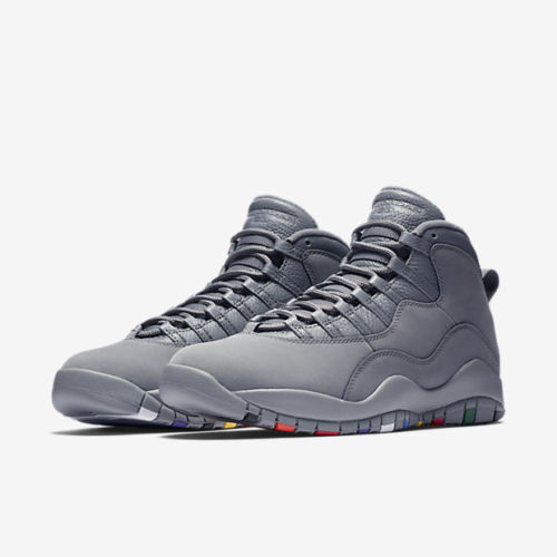0a62def91d62 Air Jordan 10 Retro Aj10 X Men Lifestyle SNEAKERS Cool Grey Multi  310805-022 9.5 for sale online