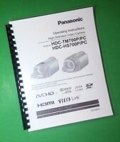 Laser Printed Panasonic Hdc-hs700p-pc Tm700p-pc Camera 160 Page Owners Manual