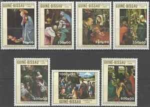 Timbres-Arts-Tableaux-Religion-Noel-Guinee-Bissau-564-70-lot-3856