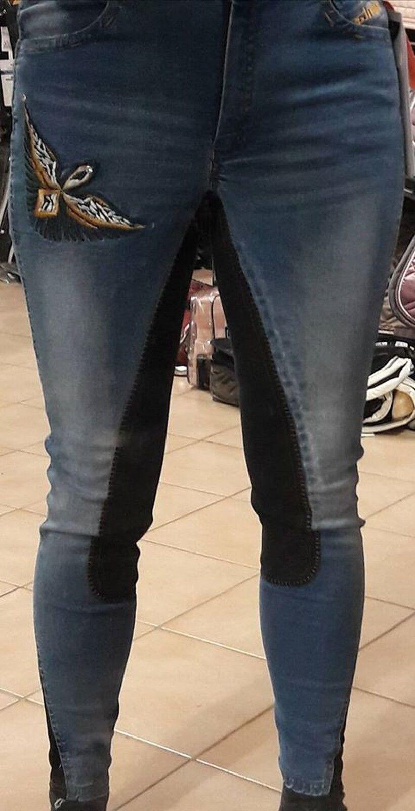 Montar Damenreithose   EAGLE    , denim, Jeansreithose, Ganzbesatz 0c5806