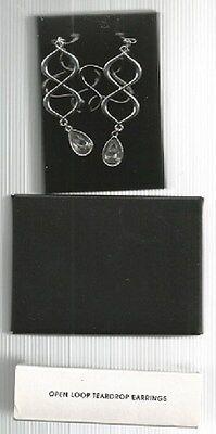 Avon Open Loop Teardrop Earrings (Pierced) 2011-NEW IN BOX - FREE SHIPPING
