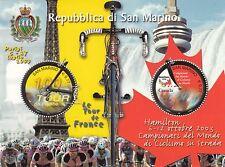 SAN MARINO 2003 FOGLIETTO Tour de France e Mondiali Ciclismo su Strada HAMILTON