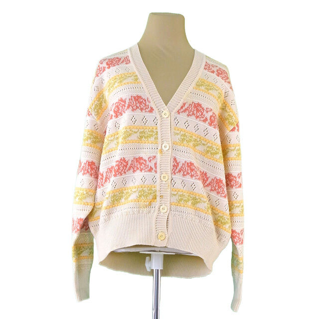 Chloe Cardigan Beige Woman Authentic Used T1127