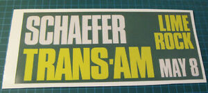SCHAEFER-TRANS-AM-RACING-LIME-ROCK-MAY-8-VINYL-DECAL-STICKER-9-1-8-034-X-4-034-SCCA