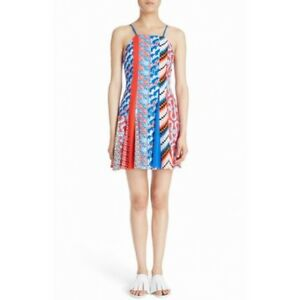 NEW-Kenzo-Sleeveless-Mixed-Print-Dress-midnight-blue-size-36-D117