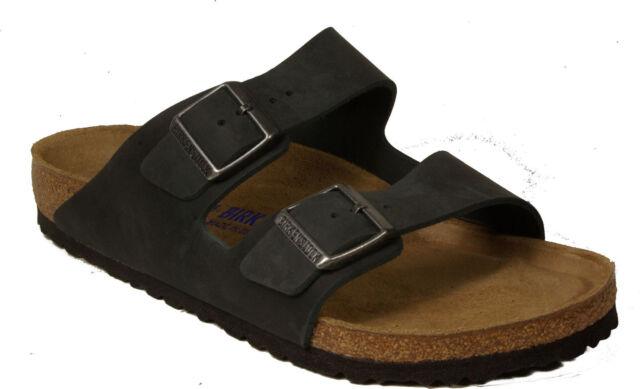 103d08681e07 BIRKENSTOCK 0752481 ARIZONA black oiled leather NORMAL regular fit soft  FOOTBED