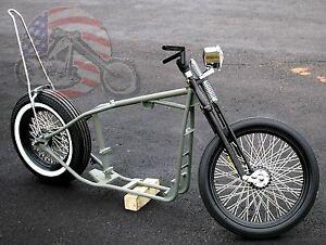 Details about Slammed Sporty Ironhead Rolling Chassis Sportster Harley  Paughco Frame Rigid XL