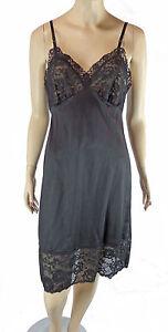 vintage van raalte black full slip lace 34 dress lingerie