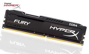 16GB Kingston DDR4 2600 (1x16G) HyperX Fury Desktop Memory HX426C16FB3/16...