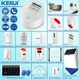 KERUI-W2-WIFI-PSTN-GSM-SMS-Security-Alarm-System-Wireless-Sensor-Accessories-Lot