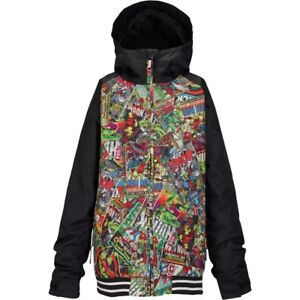 BURTON-YOUTH-Boys-Snowboard-Snow-Marvel-Black-GAME-DAY-JACKET