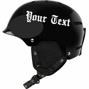 BIKER HELMET LETTERING REFLECTIVE MOTORCYCLE HELMET DECAL FOR - Motorcycle helmet decals