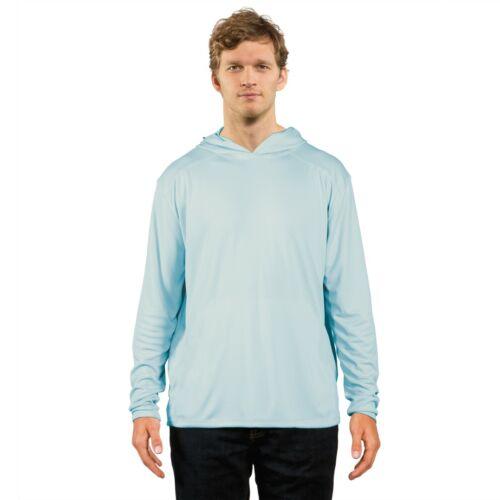 Vapor Apparel Solar Performance Long Sleeve Hooded Sun Shirt Arctic Blue Large