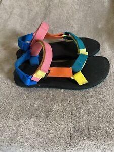 TEVA Original Universal 90's Multicolor Strappy Hiking Water Sandals Womens Sz 9