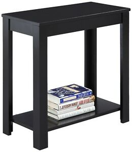 Wood Side End Table Book Storage College Dorm School Furniture Tv