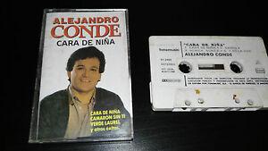 ALEJANDRO-CONDE-CARA-DE-NINA-CINTA-TAPE-CASSETTE-SPANISH-EDITION-FONOMUSIC