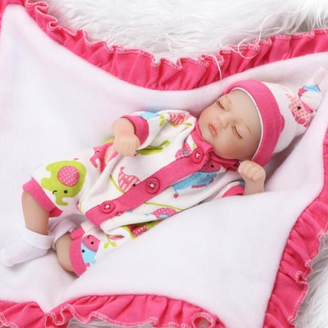 45cm Lifelike Gift C095W Nicery Reborn Baby Doll Soft Silicone Girl Toy 18in