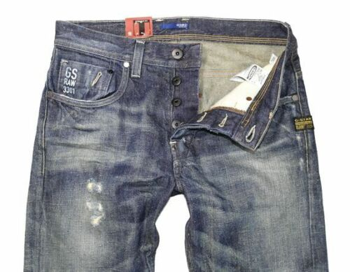 G-Star Herren Jeans Attacc Straight Otisco Denim Medium Destroy NEU Hose