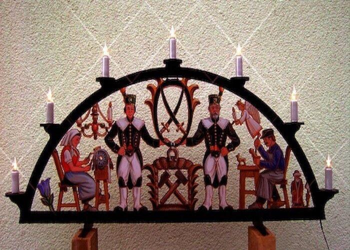 Außenbogen aus Kunststoff Erzgebirge farbig 7 Kerzen Kerzen Kerzen 140 x 74cm wetterfest 04539 639eb6