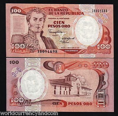 100  PESOS  ORO 1988 P 426c   Uncirculated Banknotes COLOMBIA