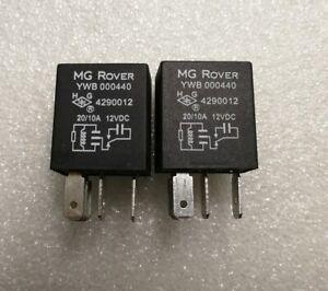 PAIR MG ROVER HEATED REAR WINDOW//MULTI FUNCTION RELAY YWB000440x2 GENUINE NEW