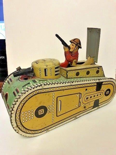 Marx Wind Up Wwi Tin Litho With Dough Boy Vintage Tanker Nnyxev9027
