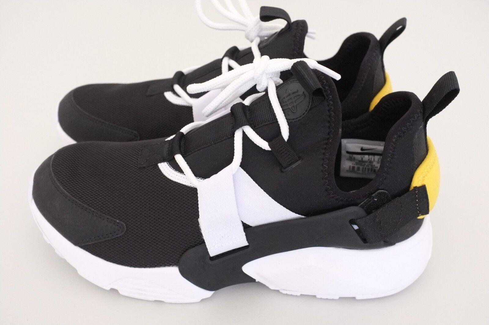 Nike Air Huarache City Low Women Athletic shoes Black White Sz 10.5 (AH6804-002)