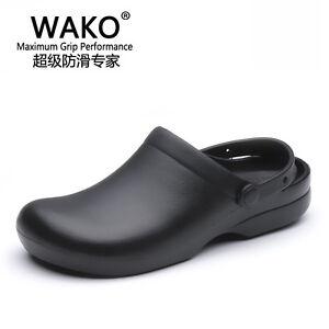 Details About Women Men Chef Shoes Sandal Clogs Safety Kitchen Non Slip Restaurant Water Oil