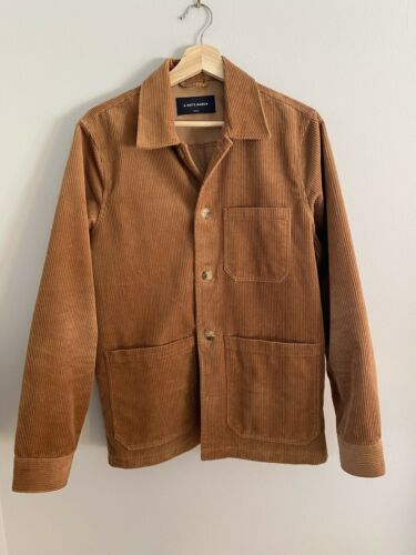 A Day's March Corduroy Overshirt, Almond, Small