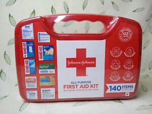 Johnson & Johnson All-Purpose First Aid Kit w/140 Items