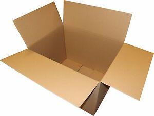 Faltkartons 800x600x600 2-wellig Umzugskartons DHL Post Europaletten Maß 4 St