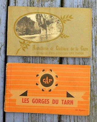 Lot de 2 carnets de cartes postales anciennes Gorges du Tarn, incomplets... | eBay