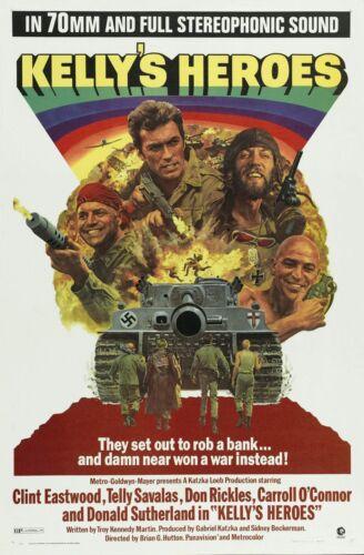 Kelly/'s Heroes Movie Silk Fabric Poster Richard Burton Clint Eastwood