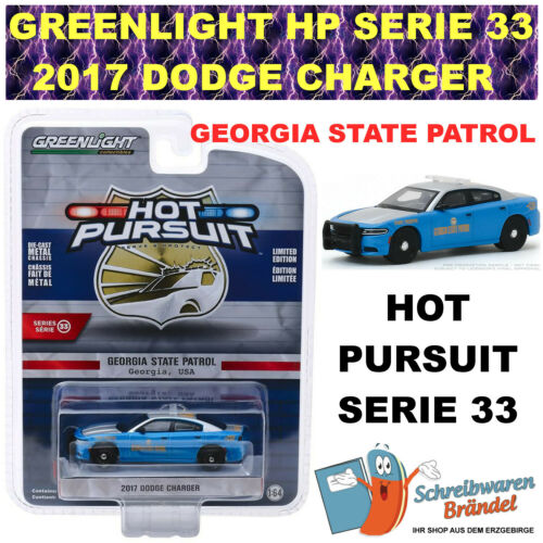 Greenlight 2017 DODGE CHARGER GEORGIA STATE PATROL 1:64 Hot Pursuit Serie 33