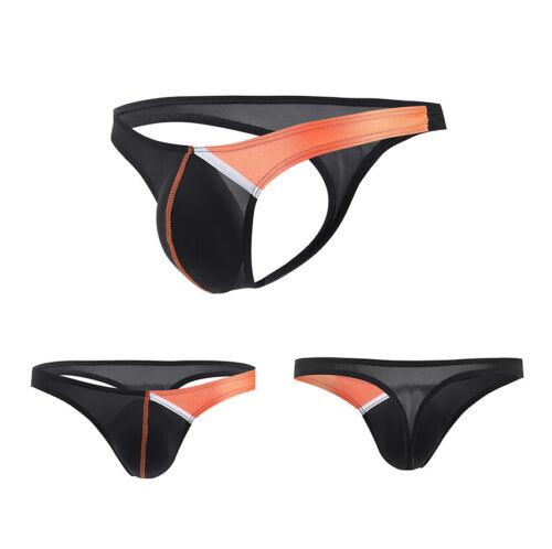 10Colors Men G-strings Lingerie Underwear Smooth Briefs Thongs Underpants Bikini