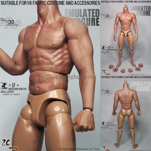 "ZC Toys 1//6 senza giunture ARMS 3.0 muscolare action figure nude corpo per 12/"" Hot Toys"