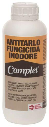 Flacone antitarlo funghicida da lt 1 inodore e incolore contro tarli e parassiti