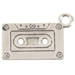 20-Pcs-Ancient-silver-Tone-Cassette-Tape-Charm-Pendants-23-x-13mm-Q9F1