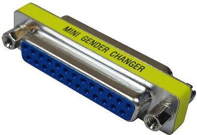 DB25 25-Pin Mini Female to Female Gender Changer Plug Mini Adapter SGC-25FF