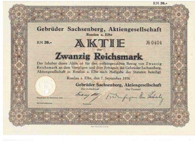 Gebrüder Sachsenberg AG 1934 Rosslau Elbe   Schiffswerften