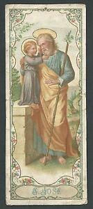 Ambitieux Estampa Antigua De San Jose Andachtsbild Santino Holy Card Santini Vous Garder En Forme Tout Le Temps
