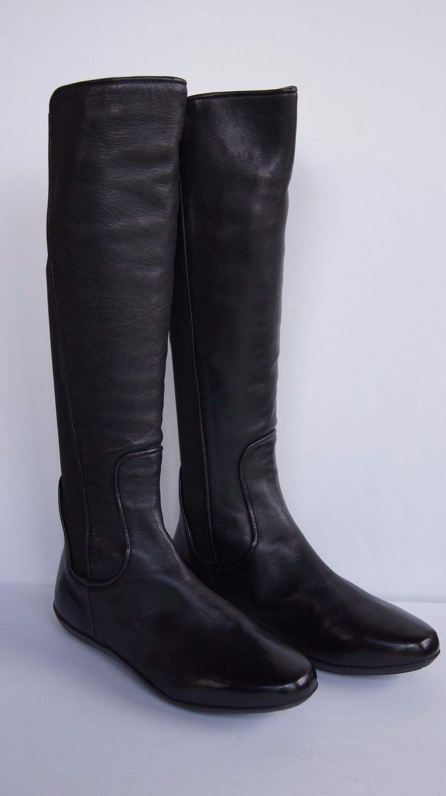 Johnston & Murphy botas botas botas para mujer Shawna Negro Cuero Equitación Bota Talla 8 Nuevo  ahorra 50% -75% de descuento