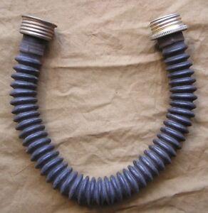 NEW soviet BLACK gas mask tube hose 40mm thread respirator rubber hose 50-60 cm