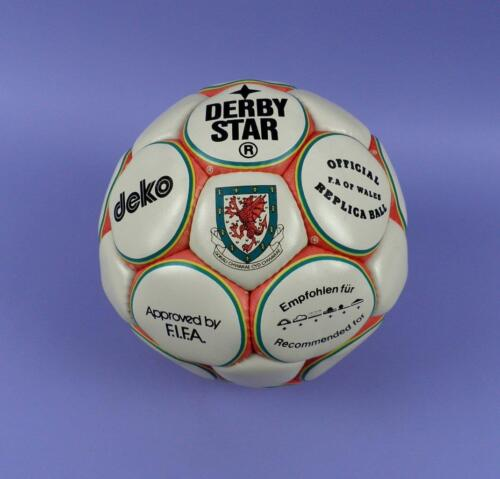 c1980s Unused Shop Stock Official F.A of Wales Replica Football by Derbystar