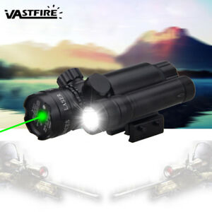 Tactical-Hunting-Flashlight-Rifle-Torch-Green-Laser-Dot-Sight-20mm-Rail-Mount