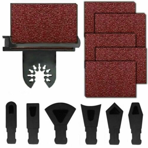 MS24; 82 Pc Sanding Kit Oscillating Multi Tool Sand Pad For Fein MultiMaster Saw