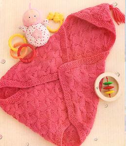 7b0ac5822 Baby Sleeping Bag Bunting Wrap Blanket~ Cable Pattern~ Hood ...