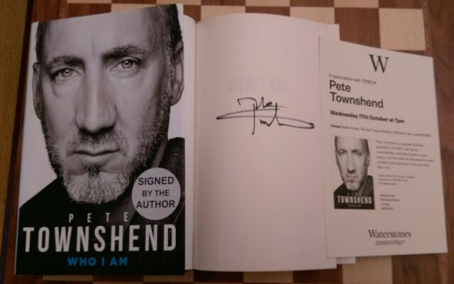 Who I Am SIGNED Pete Townshend Autobiography Hardback 2012 1st edition 1st print