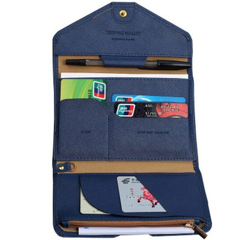 Porte-cartes de crédit pliant Porte-monnaie et porte-document New Passport Cover